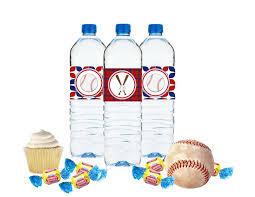 printable baseball birthday water bottle label printable diy