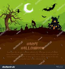 illustration abandoned haunted house halloween night stock vector