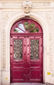 paris photography cherry pink door fine art travel