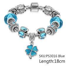 bracelet pandora murano images Pandora inspired multifaceted blue rhinestone murano glass jpg