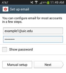 setting up email on android how do i configure basic email on android devices academic