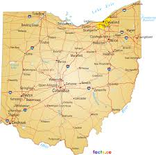 Ohio City Map Oklahoma State Maps Usa Of Ok On National Fronts Surface Map Com