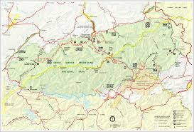 Virginia Counties Map Virginia Usa Mappery by Great Smokey Mountains National Park Trail Map Great Smokey