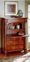 Pier One Secretary Desk Butler Elegant Hand Carved Wood Secretary Desk With Drawers In