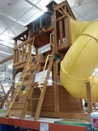 outdoors cedar summit playset wooden swing sets costco costco