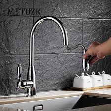 Gooseneck Kitchen Faucet With Pull Out Spray by Online Get Cheap Gooseneck Kitchen Faucet Aliexpress Com
