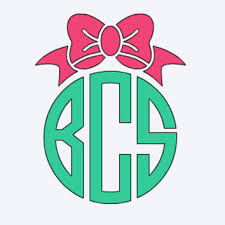 bow monogram monogram car decal bow monogram vinyl from hbsoutherninspired