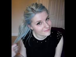 light blue hair dye how to dye your hair baby pastel blue youtube