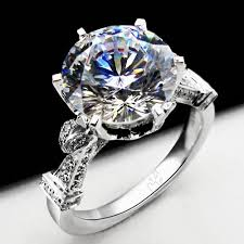 real diamonds rings images Large lab created diamond engagement ring compare with the real jpg