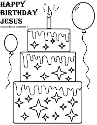jesus birthday coloring pages eson me