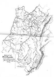 Map Of Wv 1776 District Of West Augusta Map