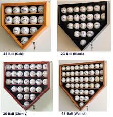 home plate shaped baseball display case locking cabinet holders