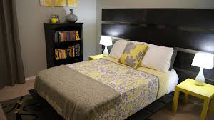 home design grey and yellow bedroom blue gray curtains with