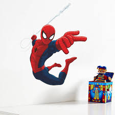 online shop cute cartoon spiderman wall stickers for kids rooms