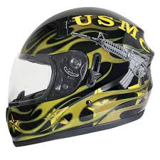 motorcycle helmets u s marine glossy full face motorcycle helmt dot approved