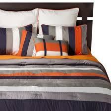 Navy Stripe Comforter Set Best 25 Orange Bed Sets Ideas On Pinterest Orange Furniture