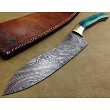 kitchen knives with sheaths damascus kitchen knife custom handmade damascus steel kitchen