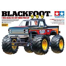 tamiya blackfoot brushed 1 10 rc model car electric monster truck
