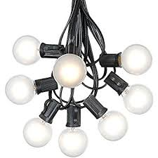g40 patio string lights with 25 frosted globe bulbs