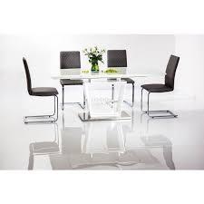 High Gloss Extending Dining Table Lauren Dining Table High Gloss Extendable Up To 180cm