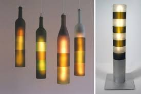 lights made out of wine bottles furniture fashionhome lighting made from recycled wine bottles