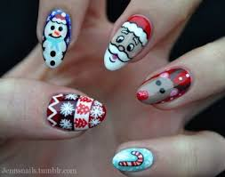 christmas themed nails pictures photos and images for facebook