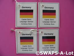 Flag Capital Mini Germany Flag Capital Thinking Day Swaps Kit For Kids
