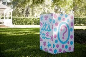 balloons in a box gender reveal gender reveal party on the lawn project nursery