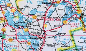 Map Of Ontario Ontario Highway 118 Route Map The King U0027s Highways Of Ontario