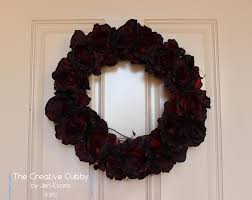 Halloween Wreath The Creative Cubby Dark Roses Halloween Wreath