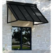 Cleaning Awnings Houstonian Metal Standing Seam Awning 24 In H X 36 In D In Black