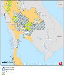 Thailand Map In World Map by Further Flooding In Thailand U2013 Floodlist