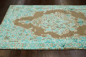 Area Rugs With Turquoise And Brown Turquoise And Brown Area Rug Doherty House Beautiful Style