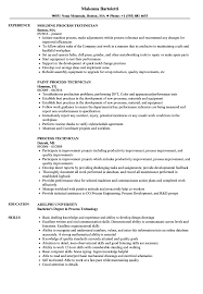 exle of a resume format process technician resume sles velvet