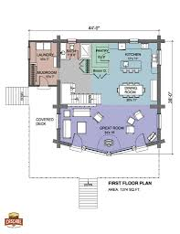 Deck Floor Plan by 1500 2400 Sq Ft Floor Plans Log Homes