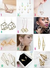 cool dangle earrings style 3d geometric earrings neon rattail