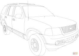ford explorer 2002 2005 coloring page free printable coloring pages
