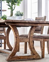 Kitchen Table Close Up Gianna Rustic Pine 77