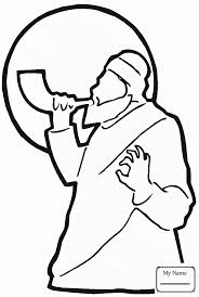 shofar for kids coloring pages for kids rosh hashanah is blowing shofar during