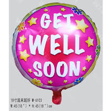 balloons get well soon china supplier 18 inch wish balloon with print get well