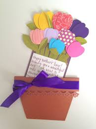 mother u0027s day flower pot cards
