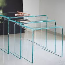 3 piece nesting tables fab glass and mirror 3 piece nesting tables reviews wayfair