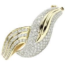 gold bangle bracelet design images Diamond leaf design 18 karat gold bangle bracelet for sale at 1stdibs jpg