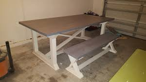 Dining Room Bench Plans by Ana White Rekourt Dining Room Table With Bench Diy Projects