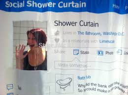 Nerdy Shower Curtain Wholesale Social Shower Curtain Looks Like A Facebook Page The