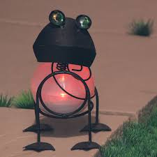 solar frog light solar garden frog color changing sculpture solascape