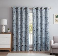 Blackout Window Treatments Paris Paisley Damask Thermal Blackout Grommet Window Curtain