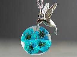 resin flower necklace images Villa sorgenfrei schmuckmanufaktur 925 hummingbird real jpg