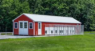 Red Barn Kennel Commercial Dog Kennels Dog Kennels For Sale Horizon Structures