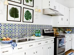 blue and green kitchen using color in the kitchen coastal living
